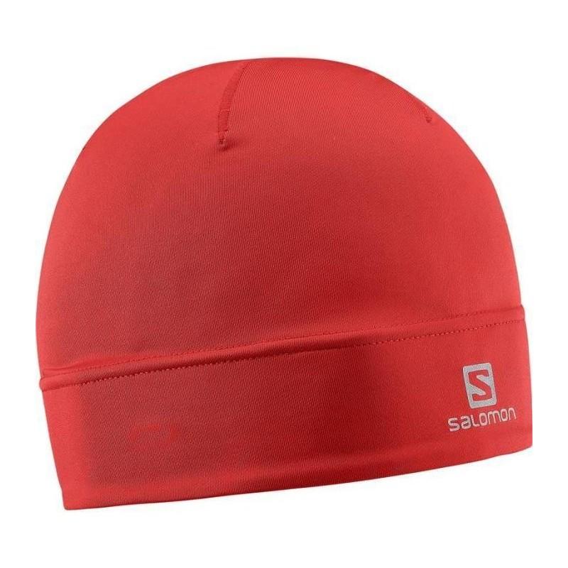 Bonnet SALOMON Active Beanie rouge matador