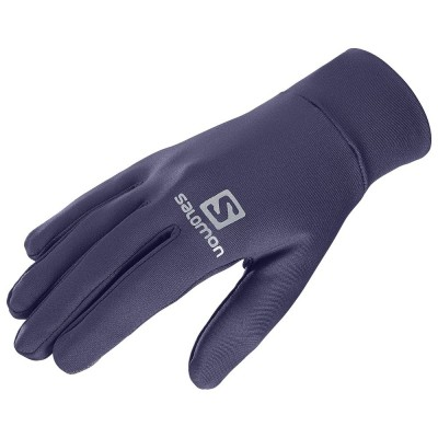 Gants SALOMON Agile Warm gloves tactiles parmes