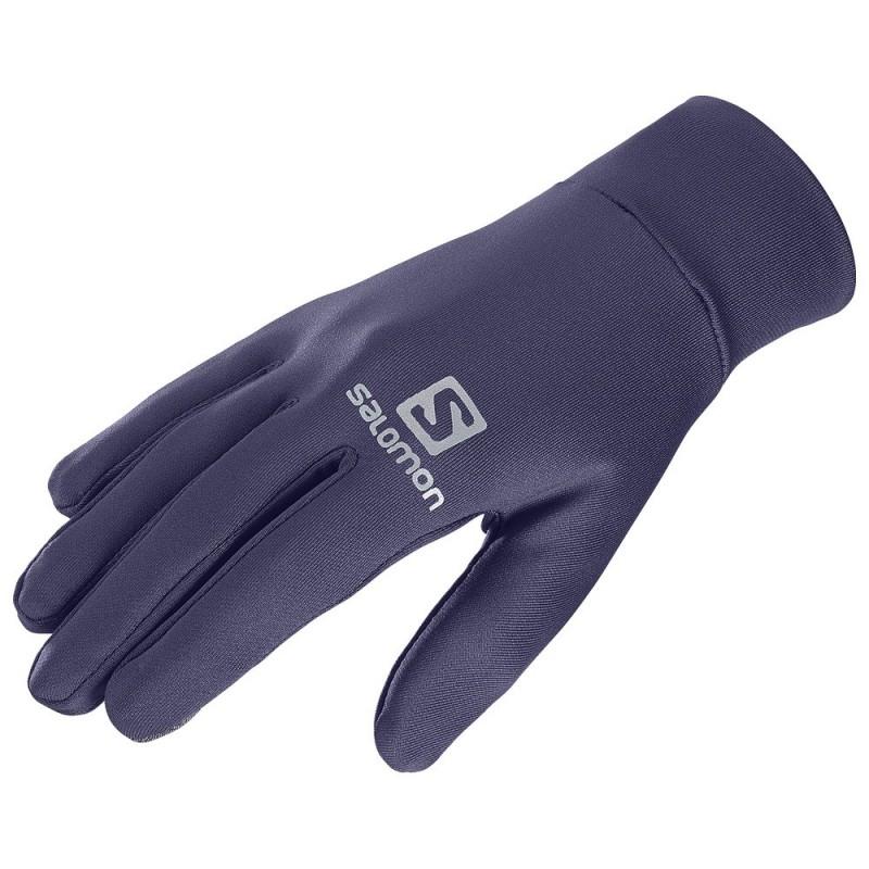 Gants SALOMON Agile Warm gloves tactiles parmes