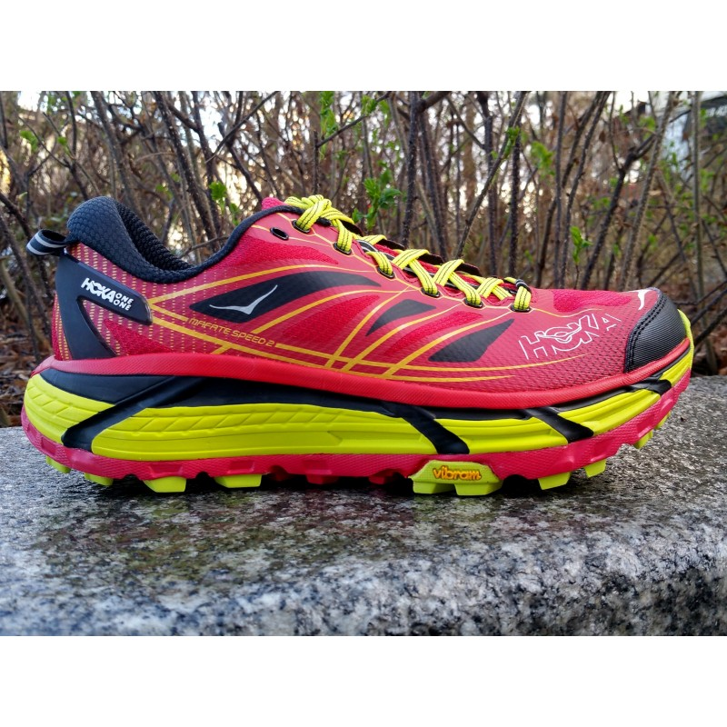 PE19 Mafate Speed 2 Homme rouge/citron