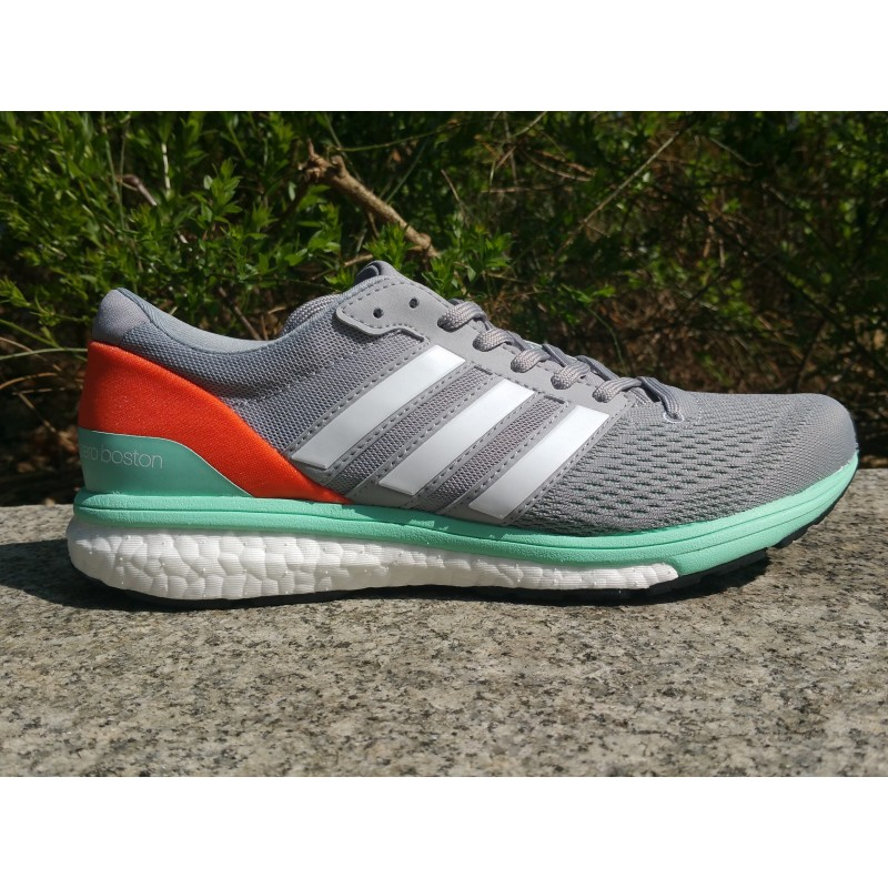 PE18 Adizero boston 6 femme gris/orange/vert