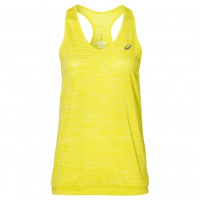 Débardeur ASICS Fuzex Layering Tank femme jaune