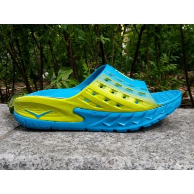 PE19 HOKA Ora Recovery Slide homme bleu/jaune