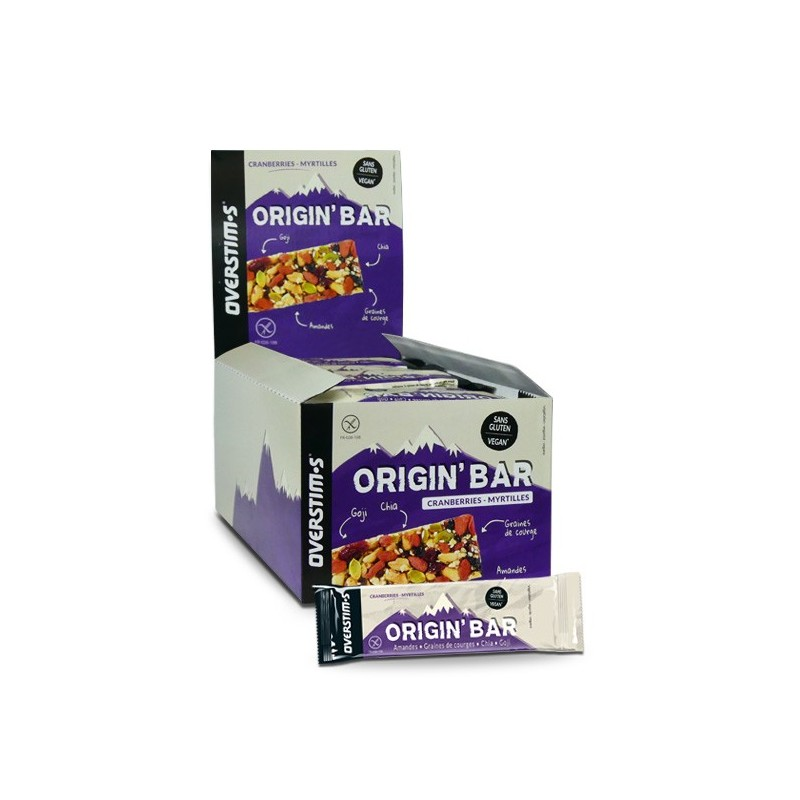 OVERSTIM'S Origin Bar Cranberrie Myrtille