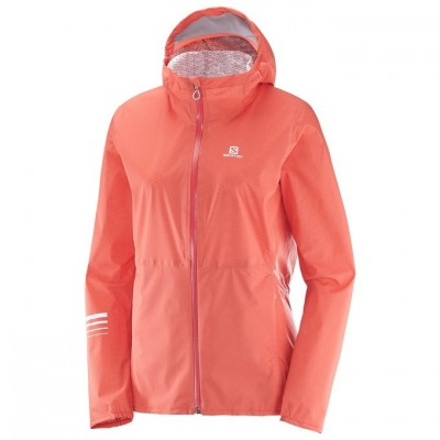 Veste imperméable SALOMON Lightning Femme corail