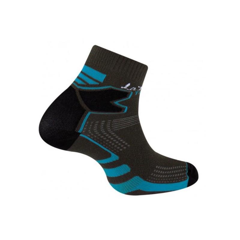 Chaussettes Run Trail Double Skin Thyo noire/bleue