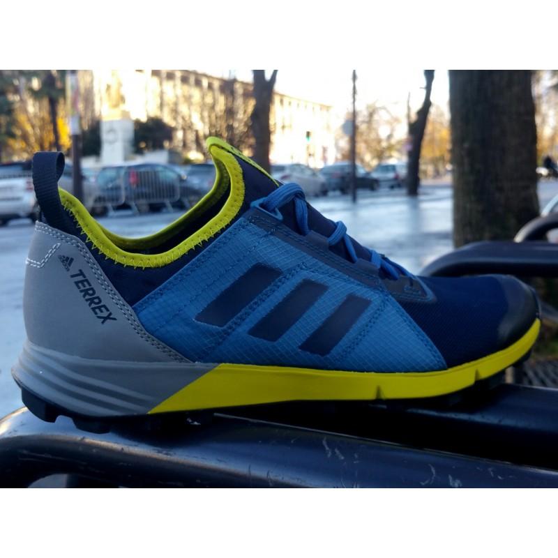PE18 Terrex Agravic Speed Homme bleu/gris/jaune