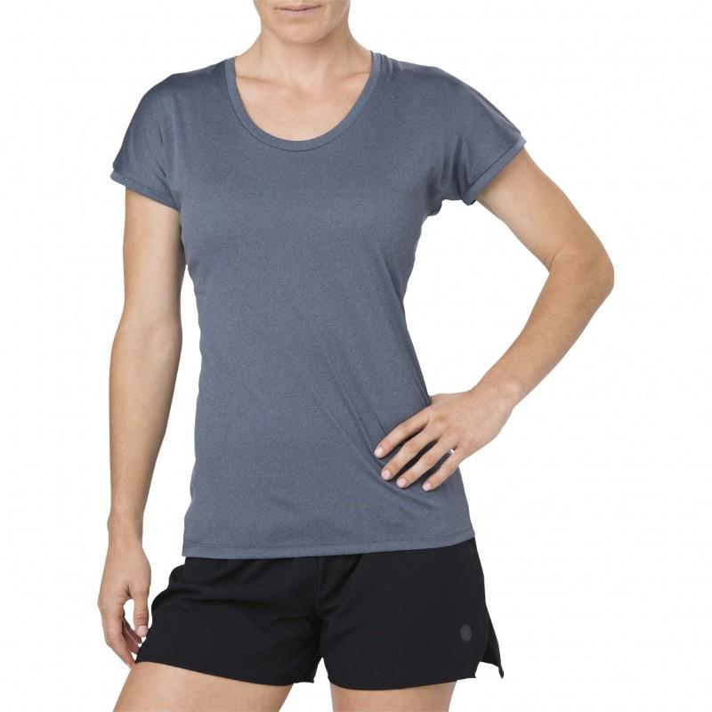 Tee-shirt ASICS CAPSLEEVE TOP Femme dark blue