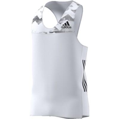 Débardeur Adidas Adizero Homme blanc noir