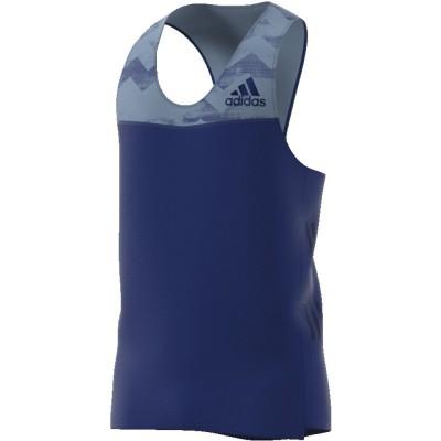 Débardeur Adidas Adizero Homme bleu gris/bleu