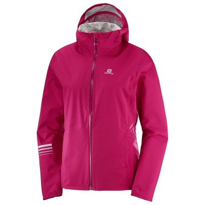 Veste imperméable SALOMON Lightning Femme Cerise