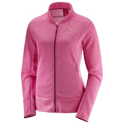 Veste SALOMON Right Nice FZ Mid Femme Cerise