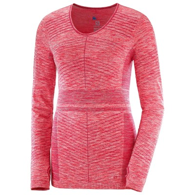 Haut SALOMON Elevate Move'on LS Femme Cerise