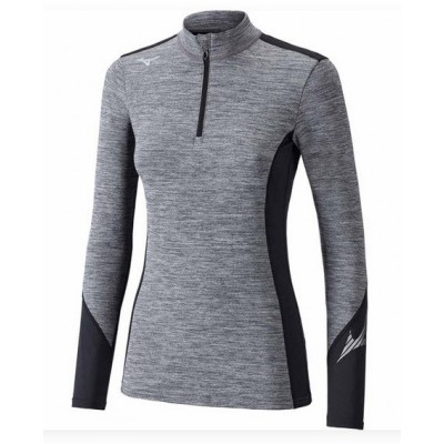 Maillot Breath thermo Virtual Body 1/2 zip femme gris/noir