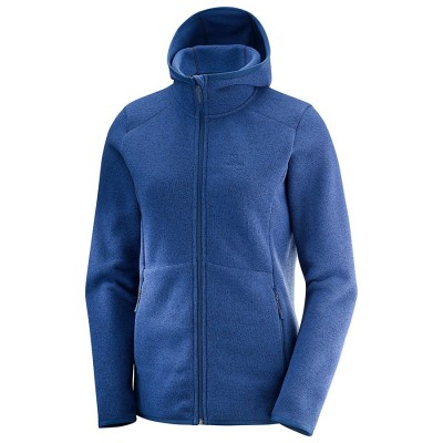 Veste SALOMON BISE HOODIE Femme Medieval Blue Heather