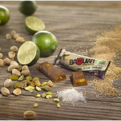BAOUW Barre Bio sans gluten Quinoa Pistache Citron Vert