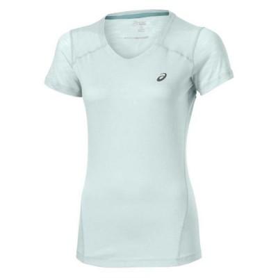 Tee shirt ASICS V-Neck SS Top Femme blanc