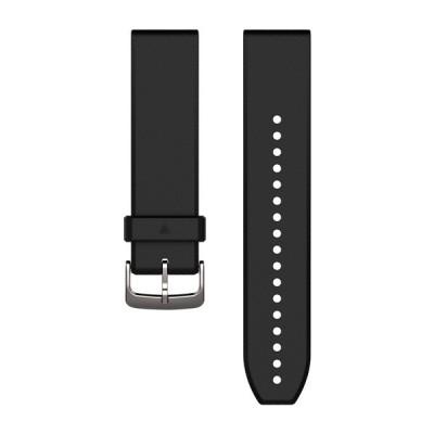 Bracelet GARMIN QuickFit® - 22mm Silicone noir, boucle silver