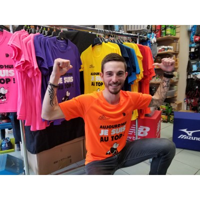 Tee-Shirt DOUZALEUR T'es au TOP Homme orange