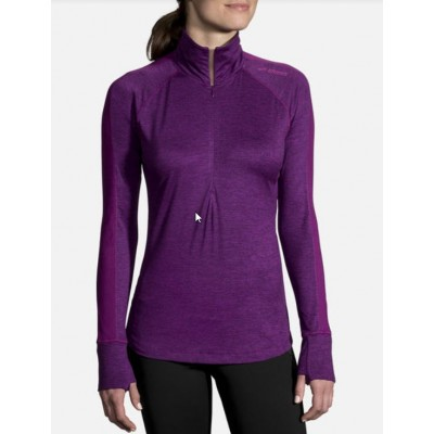 Haut Brooks DASH 1/2 zip Femme Heather Violet