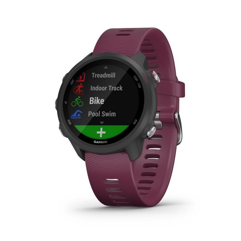 Montre GPS GARMIN FORERUNNER 245 noire/merlot