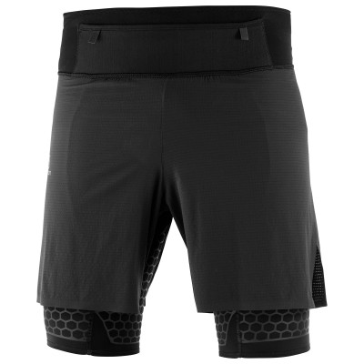 Short SALOMON EXO TWINSKIN SHORT Homme Black