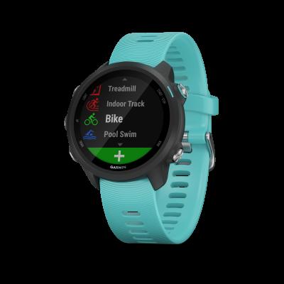 Montre GPS GARMIN FORERUNNER 245 music noire/vert d'eau