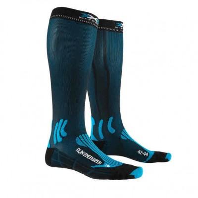 Chaussettes X-SOCKS Run Energizer Bleue/Noire