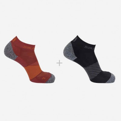 Chaussettes SALOMON SPEED 2-PACK-Red-Black