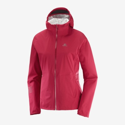 Veste SALOMON LIGHTNING WP JKT W Femme Rio Red