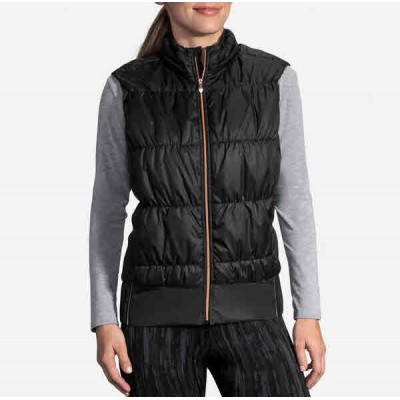 Veste BROOKS Cascadia Thermal Vest Femme Black/Rose Gold