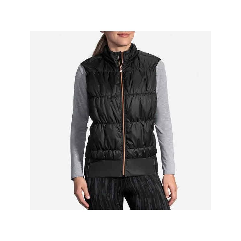 Veste BROOKS Cascadia Thermal Vest Femme Black/Rose Gold