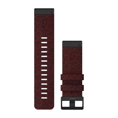 Bracelet GARMIN QUICKFIT 26 WATCH BAND nylon rouge chiné