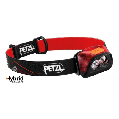 Lampe Fronatle PETZL ACTIK CORE rouge
