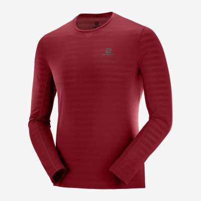 Tee-Shirt SALOMON XA LS TEE Manches Longues Homme biking red