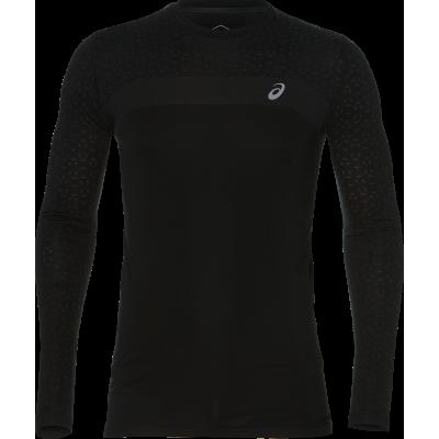 Tee-Shirt ASICS Seamless LS Texture Homme noir