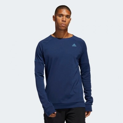 Tee-Shirt manches longues ADIDAS RunR Cru Homme bleu