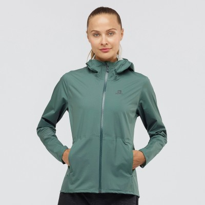 Veste SALOMON Lightning WP JKT Femme balsam green