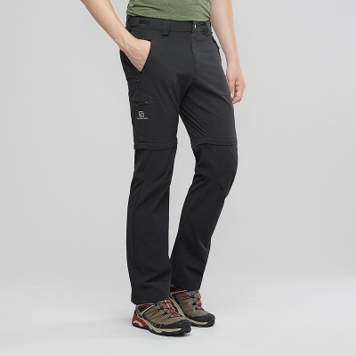 Pantalon SALOMON Wayfarer Straight Zip Homme black