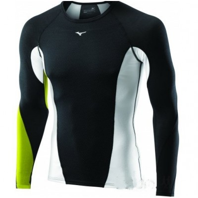 Maillot breath thermo virtual body G1 1/2 zip Homme noir/vert