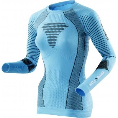 Maillot manches longues X-BIONIC EFFEKTOR Femme bleu