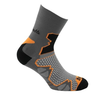 Chaussette marche THYO Double trek gris/orange