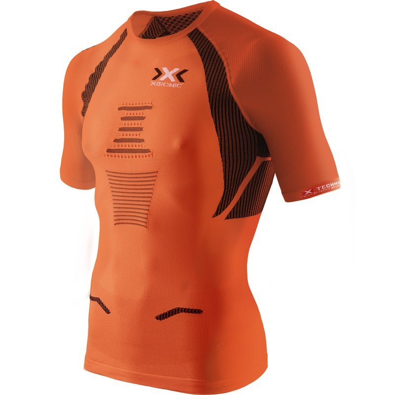 Maillot X-BIONIC manches courtes THE TRICK Homme orange/noir
