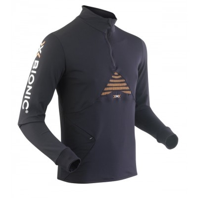 Maillot ML X-BIONIC Running Trail Humdinger homme noir/orange