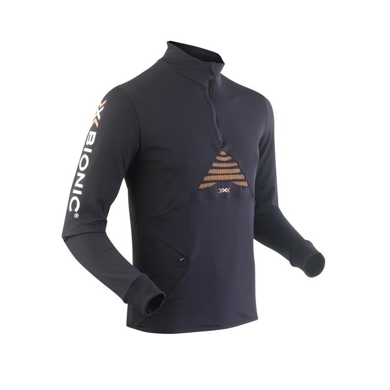Maillot ML X-BIONIC Running Trail Humdinger homme noir/orange