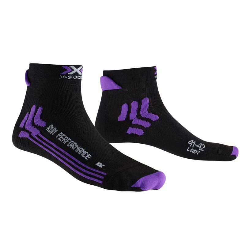 X-SOCKS Run performance femme noire / violet