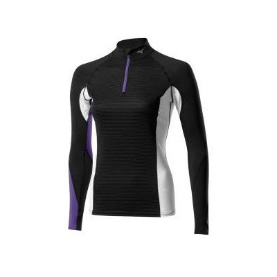 Maillot Breath thermo Virtual Body 1/2 zip femme noir/purple