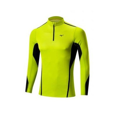 Maillot Breath thermo Virtual Body 1/2 zip homme lime / noir