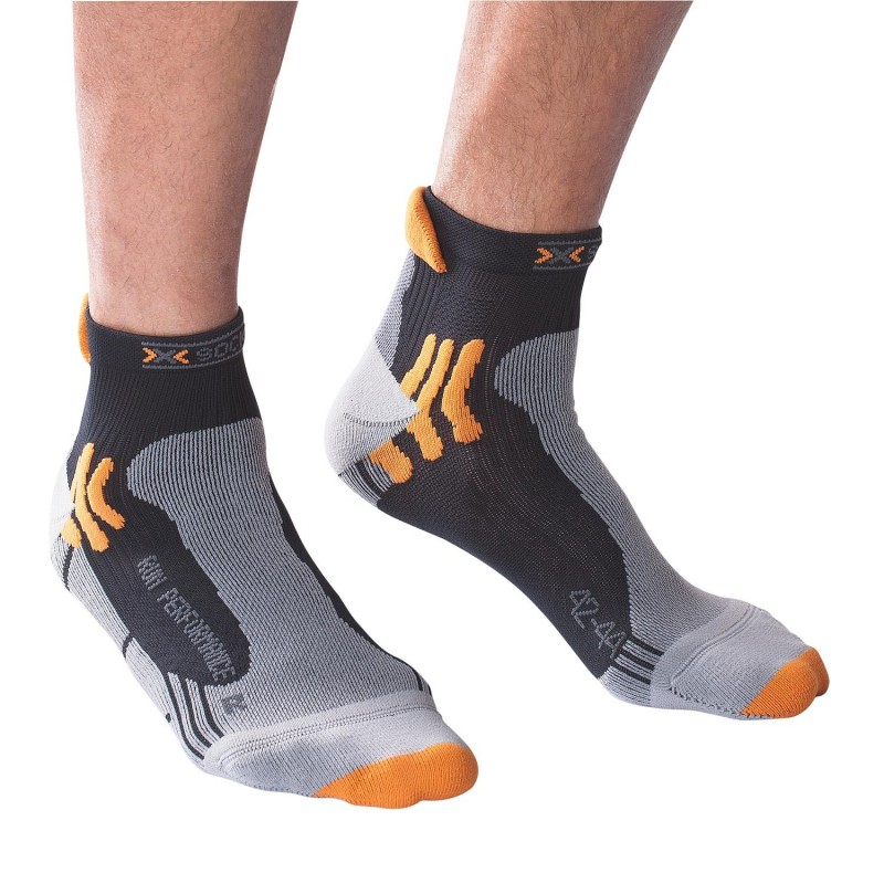 Chaussettes TRAIL X-SOCKS Run performance noires