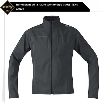 Veste imperméable Gore-tex Essential GT AS homme noir